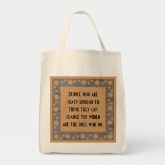 crazy people grocery tote bag