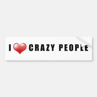 Crazy People Love Sticker