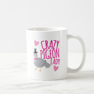 crazy pigeon lady coffee mug