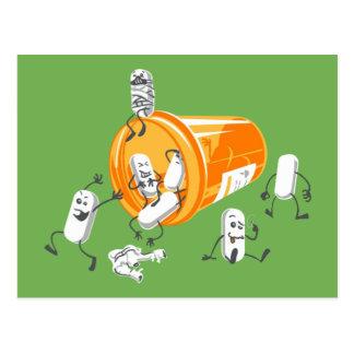 Crazy pills postcard