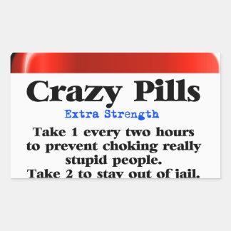 Crazy Pills_ Rectangular Sticker