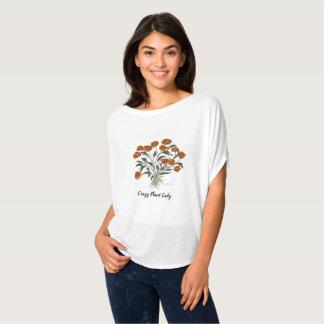 Crazy Plant Lady Blouse-Floral Bouquet-Roses T-Shirt