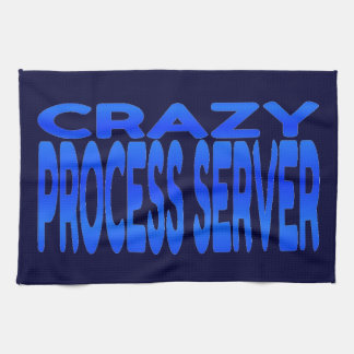 Crazy Process Server Hand Towels