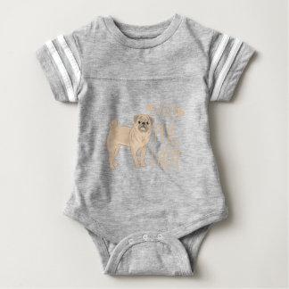 crazy pug lady baby bodysuit
