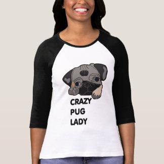 Crazy Pug Lady Tshirt