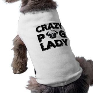 Crazy Pug Lady Typography Graphics Tank Top Pet Tee