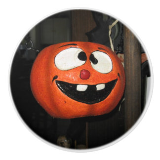 Crazy Pumpkin Ceramic Knob
