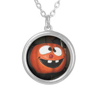 Crazy Pumpkin Silver Plated Necklace