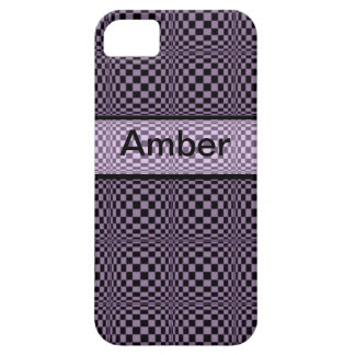 Crazy Purple check iphone4 case-mate case