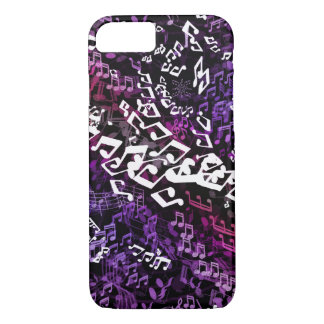 Crazy Purple Musical Notes Music iPhone Case
