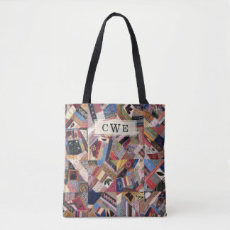 Crazy Quilt Patchwork-Look Custom Tote Bag