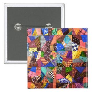 Crazy Quilt Patchwork Quilt Abstract Art Geometric Buttons