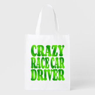 Crazy Race Car Driver in Green