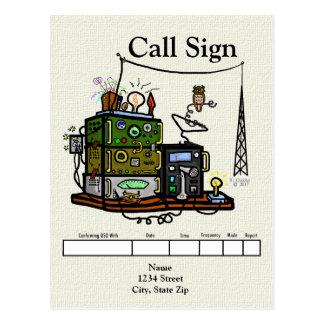 Crazy Radios and Owl QSL Card
