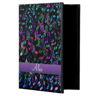 Crazy Rainbow Music Notes Monogram iPad Air 2 Case