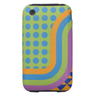 Crazy Random Pattern Phone Cover iPhone 3 Tough Cover