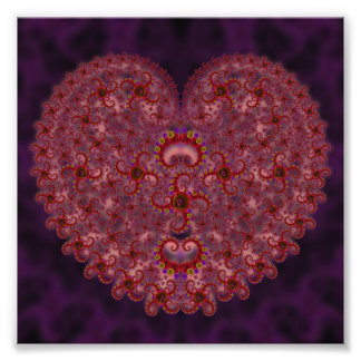 Crazy Red & Purple Valentines Fractal Photograph