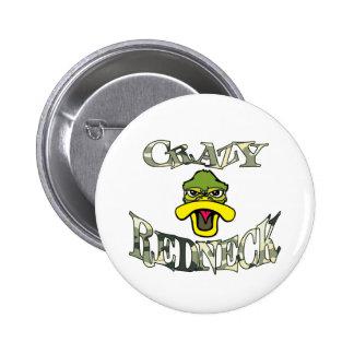 Crazy Redneck Duck Head Camo 6 Cm Round Badge