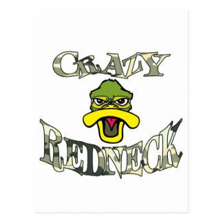 Crazy Redneck Duck Head Camo Postcard