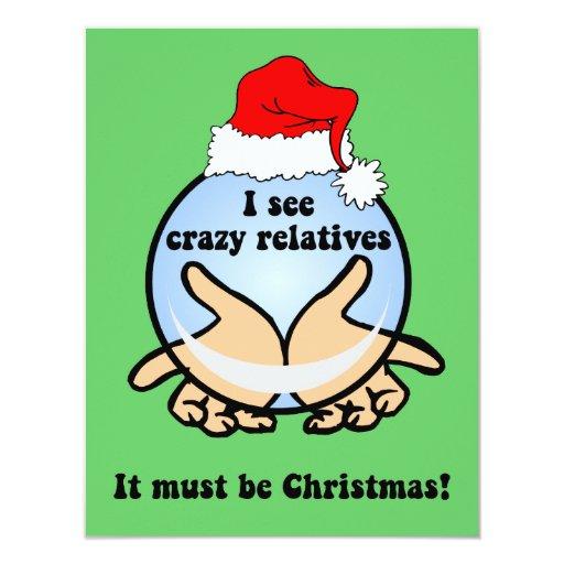 Crazy relatives Christmas 11 Cm X 14 Cm Invitation Card