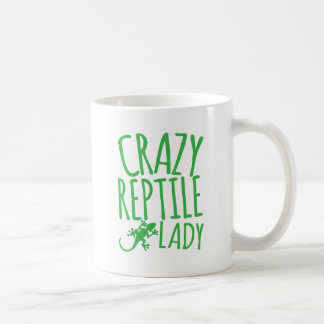 crazy reptile lady coffee mug