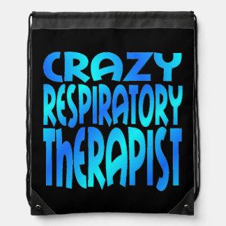 Crazy Respiratory Therapist Drawstring Bag