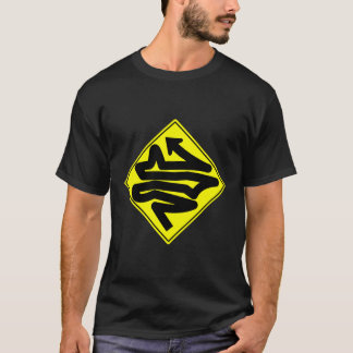 Crazy Road Traffic Sign T-Shirt