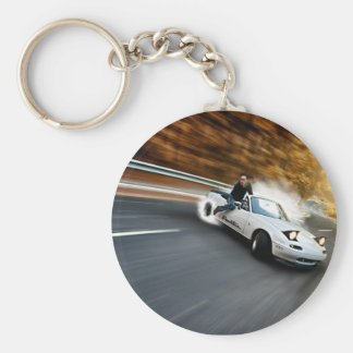Crazy Roadster Drifter Basic Round Button Key Ring