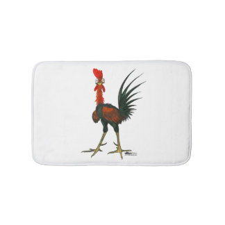 Crazy Rooster Bath Mat