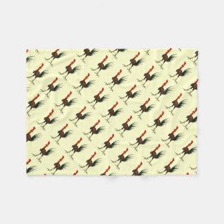 Crazy Rooster Fleece Blanket