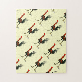 Crazy Rooster Jigsaw Puzzle