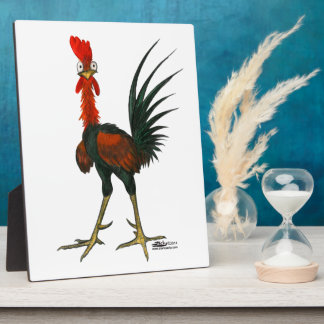 Crazy Rooster Plaque