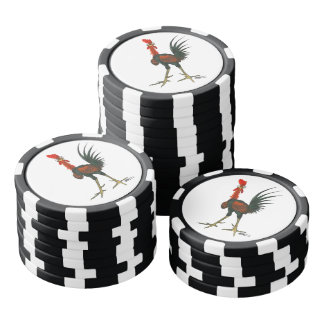 Crazy Rooster Poker Chips