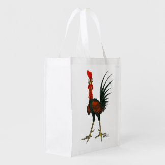 Crazy Rooster Reusable Grocery Bag
