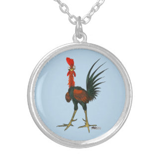 Crazy Rooster Silver Plated Necklace