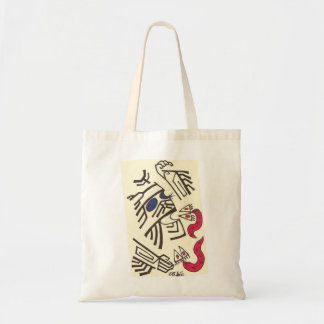 Crazy Samurai/Alien Face with Fizh Monsters Tote Bag