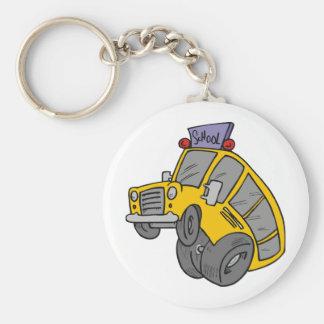 Crazy School Bus Key Ring