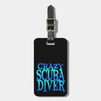 Crazy Scuba Diver Luggage Tag