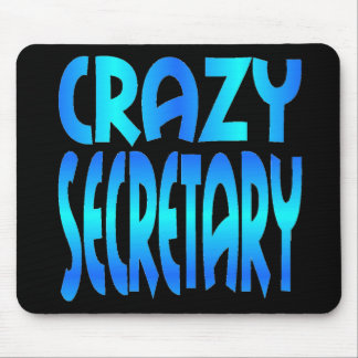Crazy Secretary Mouse Pad