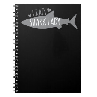 Crazy Shark Lady Notebooks