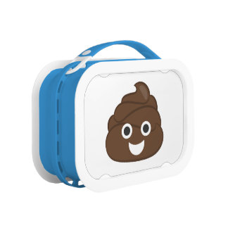 Crazy Silly Brown Poop Emoji Lunch Box