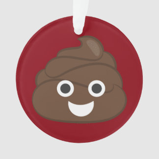 Crazy Silly Brown Poop Emoji Ornament