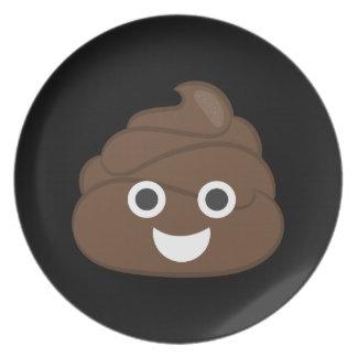 Crazy Silly Brown Poop Emoji Plate