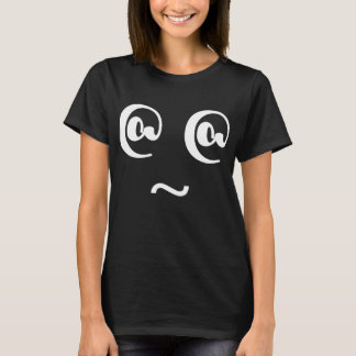 Crazy Silly Dizzy Face Black T-Shirt