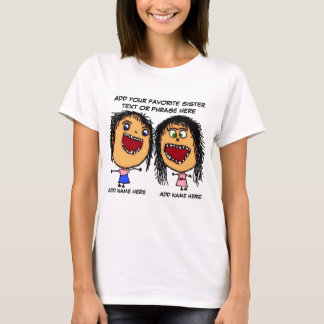 Crazy Sister Cartoon T-Shirt