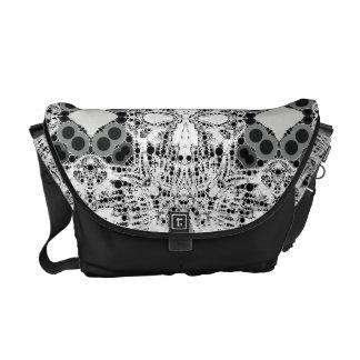 Crazy Skull Abstract Rickshaws Messenger Bag