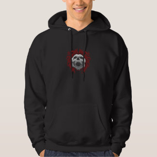 Crazy Skull Hooded Sweatshirt Grunge