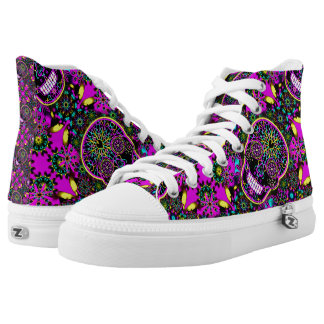 Crazy Skull Shoes Printed Shoes