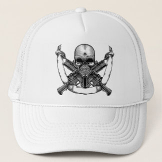 Crazy Skull Trucker Hat