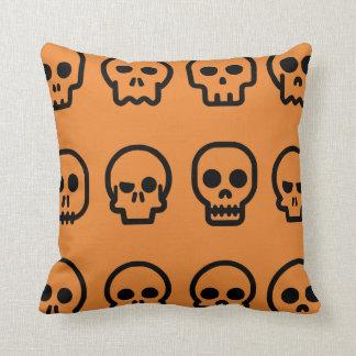 Crazy Skulls Orange Pattern Cushion